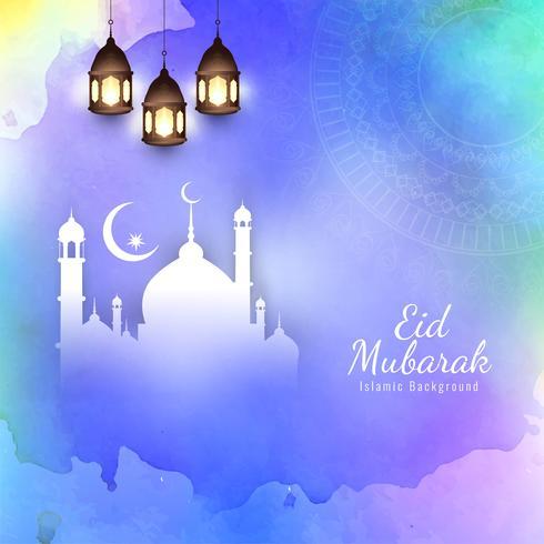 Abstract Eid Mubarak Islamic religious background