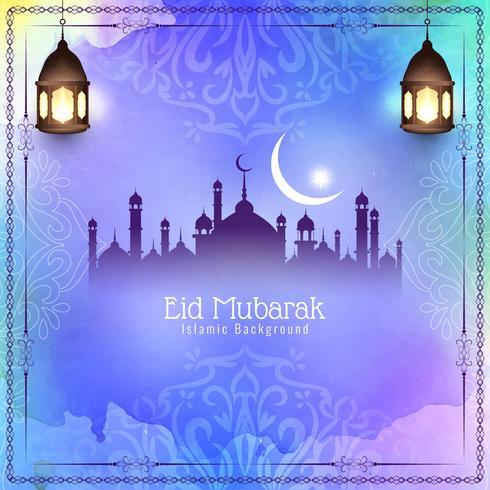 Abstraktes Eid Mubarak-Festivalhintergrunddesign