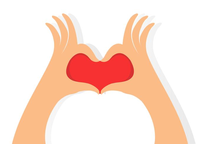 manos hacen un vector icono de corazón