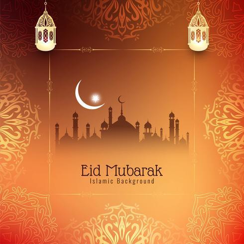 Fundo bonito abstrato do festival de Eid Mubarak