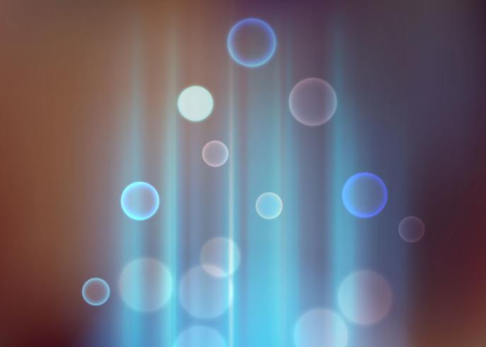 Aura Blue lights bokeh vintage beautiful vector