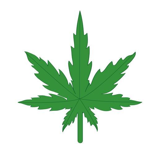 Marihuana-Symbol Vektor