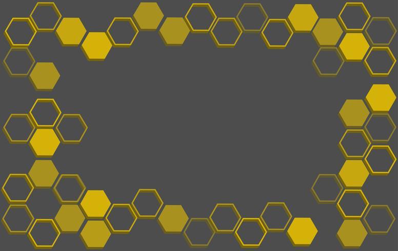 abstrait d'hexagone, abstrait d'abeille