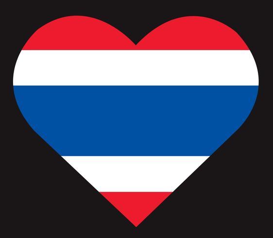 Icono de la bandera tailandesa, vector bandera de Tailandia