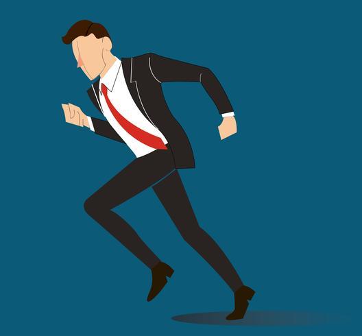 illustrazione vettoriale di corsa dell'uomo d'affari