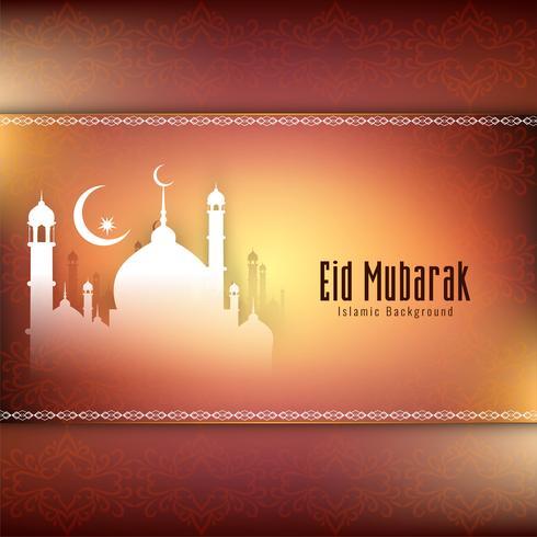 Fondo decorativo abstracto elegante Eid Mubarak