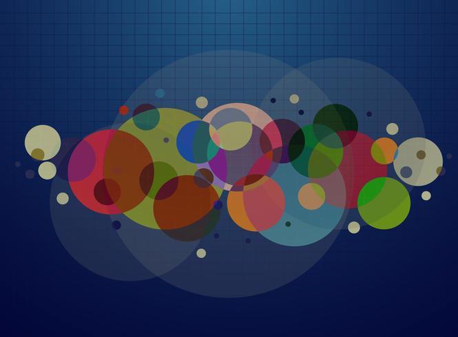 ligne abstraite bleue et vecteur de fond cercle