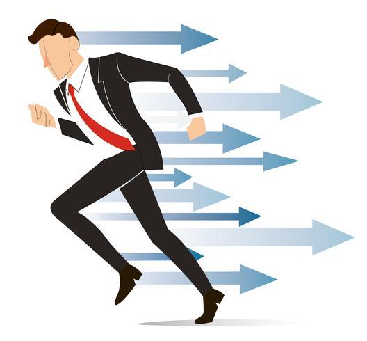 löpande affärsman, uppnå affärsidé