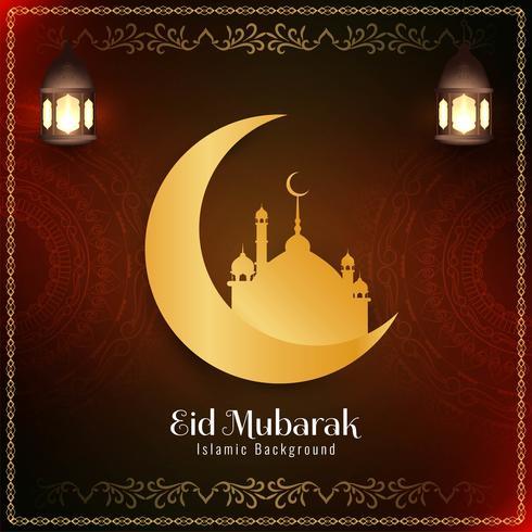 Abstract Islamic Eid Mubarak background