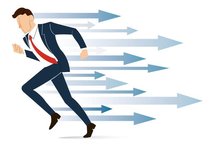 running businessman , Reaching Business concept  vector