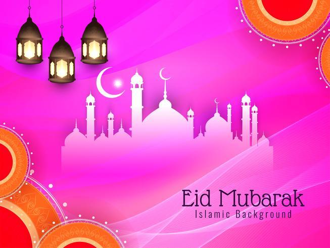 Astratto elegante elegante sfondo Eid Mubarak