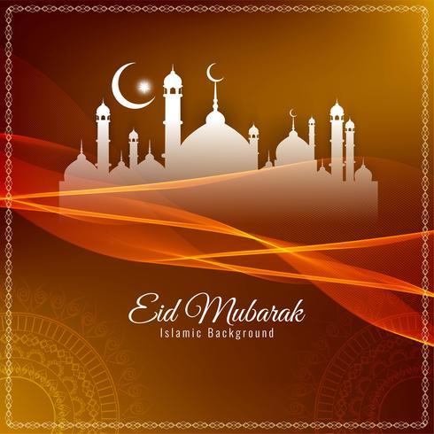 Abstrato religioso Eid Mubarak fundo islâmico