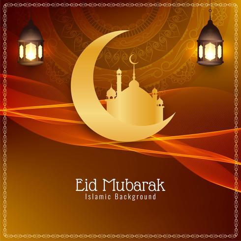 Abstract Eid Mubarak festival background design