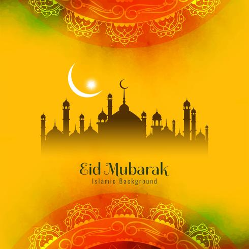 Abstrakt religiös Eid Mubarak islamisk bakgrund