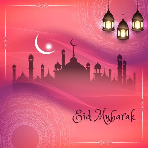 Priorità bassa religiosa islamica astratta di Eid Mubarak vettore