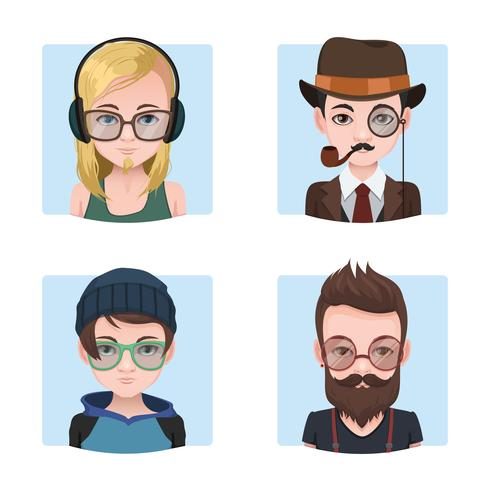 Hipster guys collection