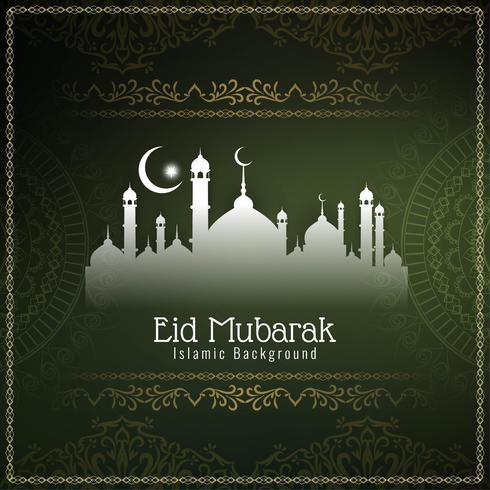 Astratto sfondo decorativo elegante Eid Mubarak vettore