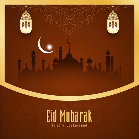 Abstract elegant Eid Mubarak decorative background vector