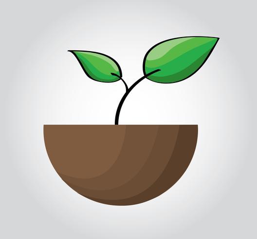 vecteur d'icône de semis