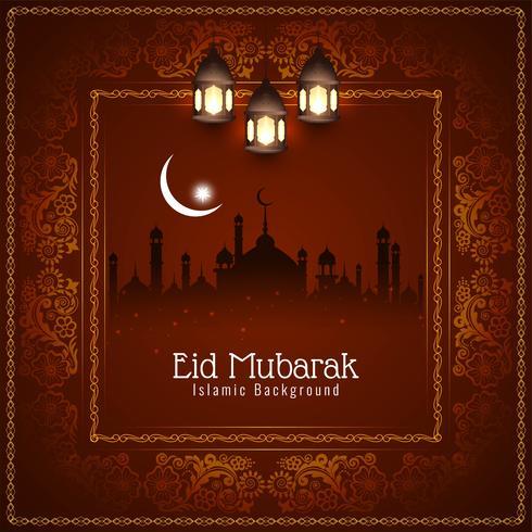 Abstracto religioso fondo islámico Eid Mubarak vector