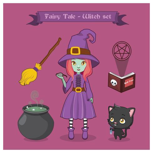 Jeu de sorcière de conte de fées