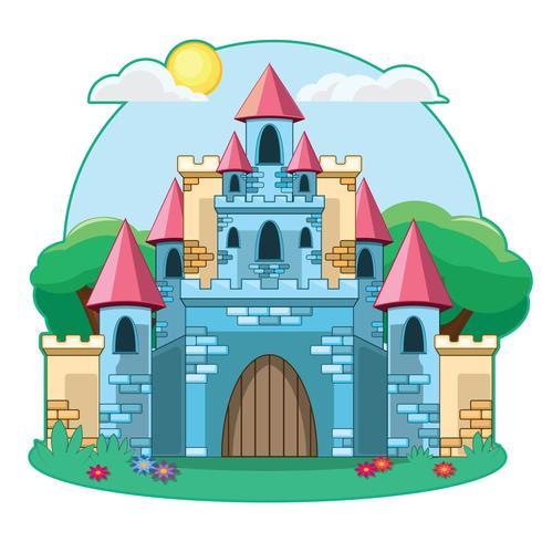 Cartoon castle illustration