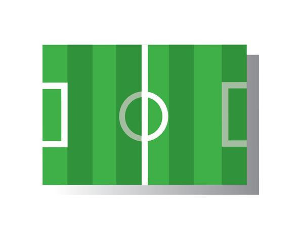 fotbollsfält ikon vektor