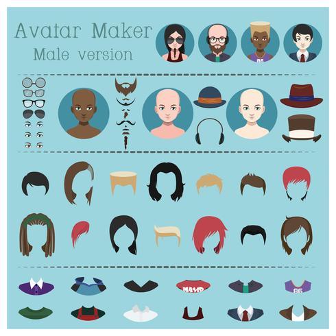 Mannelijke avatar maker