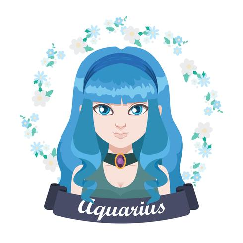 Ilustração do signo do Zodíaco - Aquário