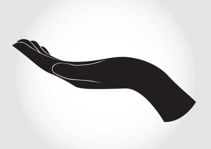 The gesturing hand design vector