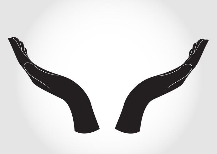 El diseño de la mano gesticulando. vector