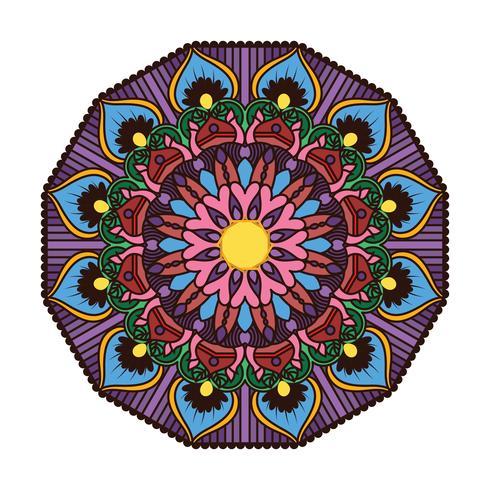 Mandala colorida linda 4