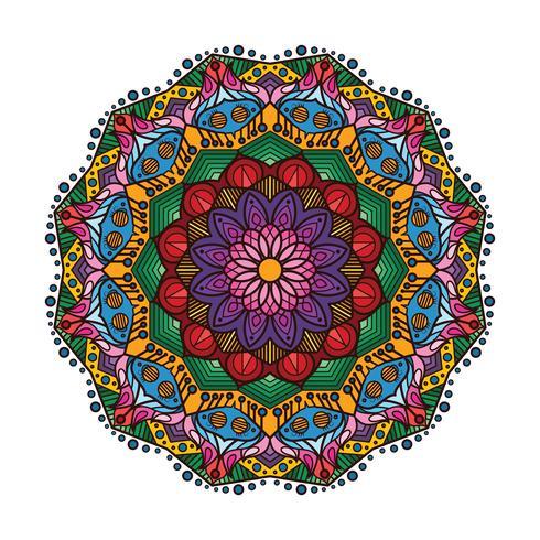 Mandala colorido encantador 1 vector