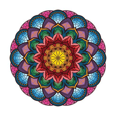 Precioso mandala colorido 2 vector
