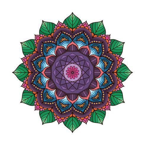 Precioso mandala colorido 3 vector