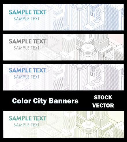 Verschillende kleuren van de stad