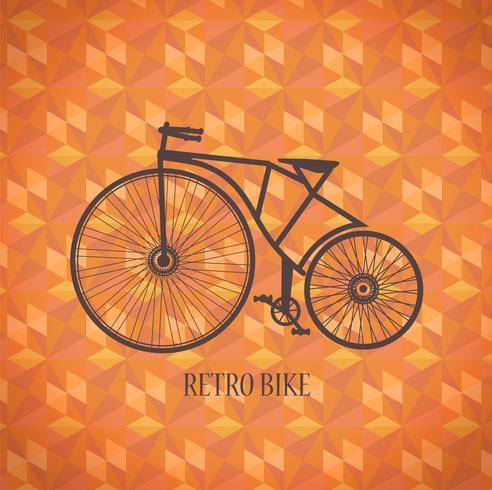 Bicicleta velha do vetor