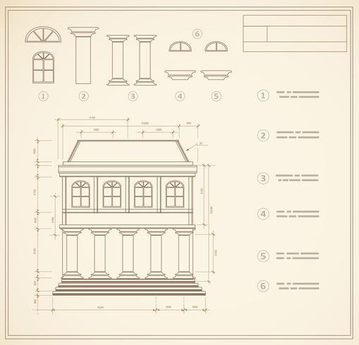 Retro print vector