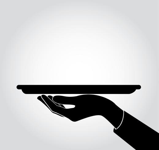 waiter / waitress serve icon , dish up vector