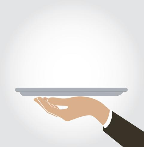 serveur / serveuse servir icône, plat vecteur