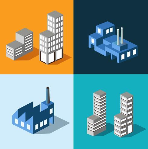 Maisons urbaines vecteur