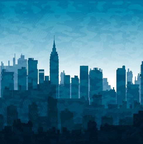 Blue city vector