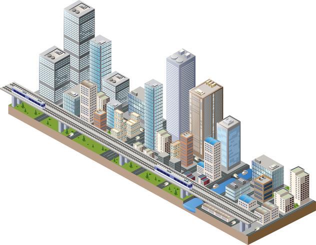Centro de vectores de la ciudad