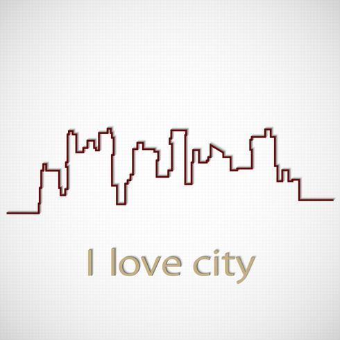Cidade da silhueta