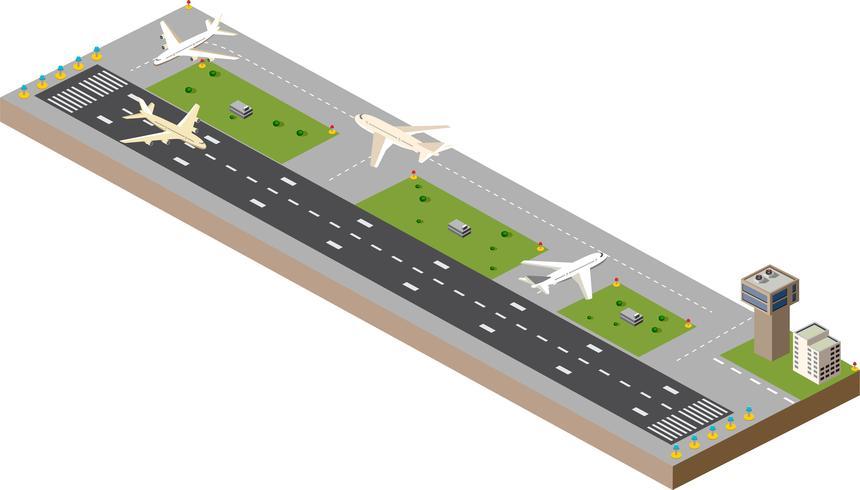 Airport runway vector