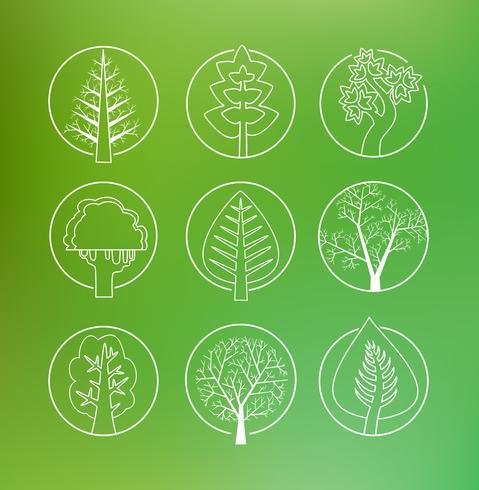 Dessin linéaire d'arbres
