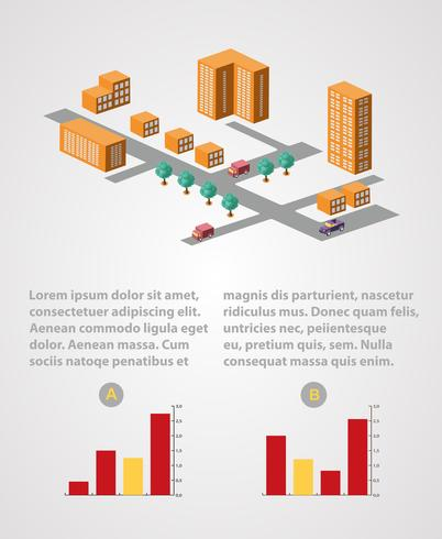 Infografía industrial vector