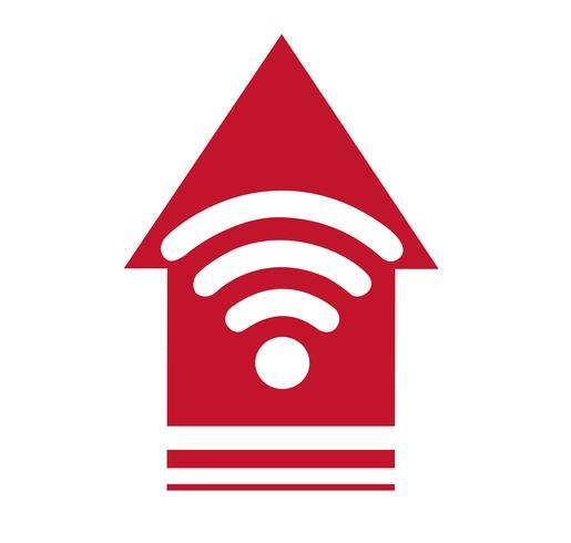 Icône Wifi, Wifi et symbole de la flèche, vecteur de zone Wifi