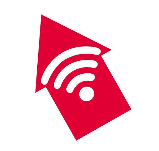 Wifi-pictogram, Wifi en pijlsymbool, Wifi-zonevector vector