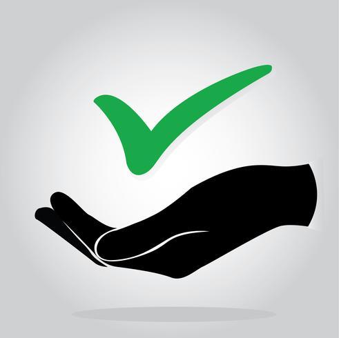 hand met selectievakje pictogram symbool vector